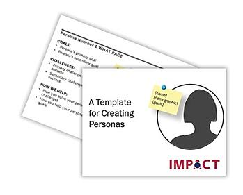 Candidate Persona Template mock up